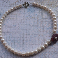 Freshwater Pearl Precious Petal Necklace