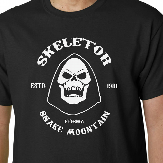 Skeletor t-shirt He-Man Masters of the Universe Sons of Anarchy Kids TV Eighties