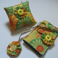 Needle Case and  Pincushion Set