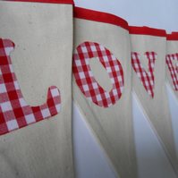 Wedding and Valentine Bunting Love Hearts
