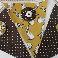 Rabbits and Polka Dot Easter Bunting- Nursery Bunting