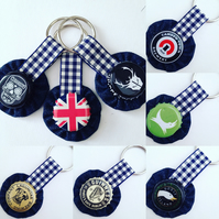 Wotnots Floral or Beer cap Keyring or Bag Charm