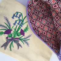 Highland Thistle make up pouch