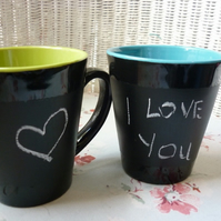 one day sale  chalkboard mug