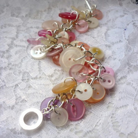 pretty in pink button bracelet