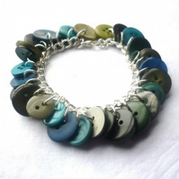 dark and stormy button bracelet