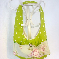 Bag sale- Green spotty shoulder bag