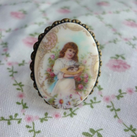 SALE - vintage image ring