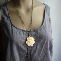 End of line sale - peony necklace