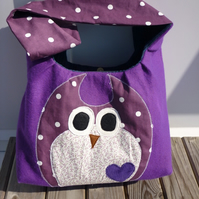 custom owl bag - you choose colour/size etc