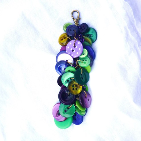 bright and bold button bag charm
