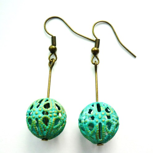 antiqued earrings
