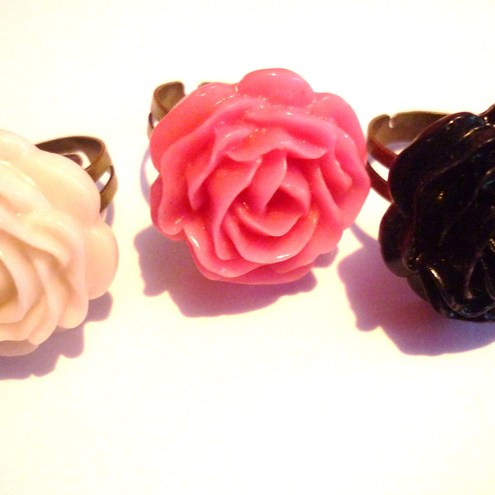 """oh so pretty"" rose ring  (out of stock)"