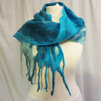 sea breeze cobweb felt scarf