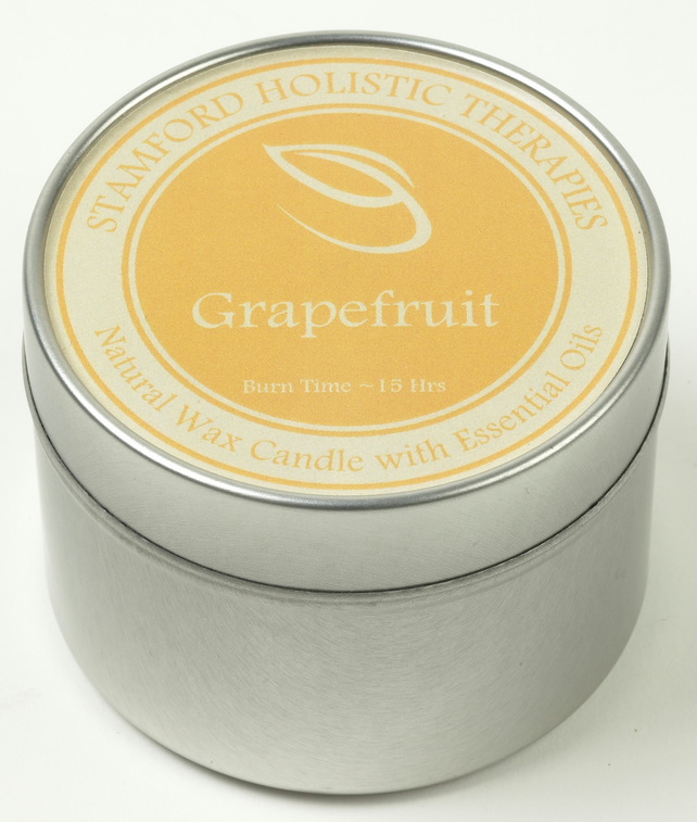 Invigorate: Grapefruit Aromatherapy Tin Candle