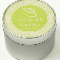 Refresh: Lime, Basil & Mandarin Aromatherapy Tin Candle