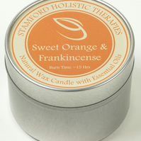 Joy: Sweet Orange & Frankinceense Aromatherapy Tin Candle