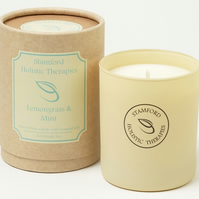 Revitalise: Lemongrass & Mint Aromatherapy Jar Candle