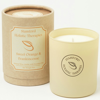 Joy: Sweet Orange & Frankincense Aromatherapy Jar Candle