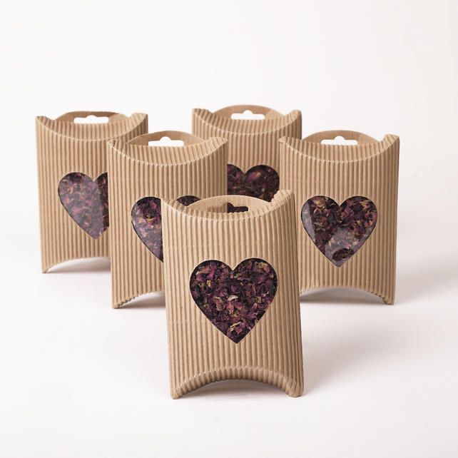 Natural Rose Petal Confetti (5 Boxes)
