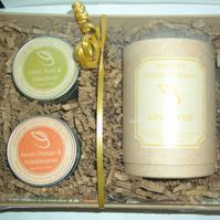 Citrus Candle Collection Gift Basket