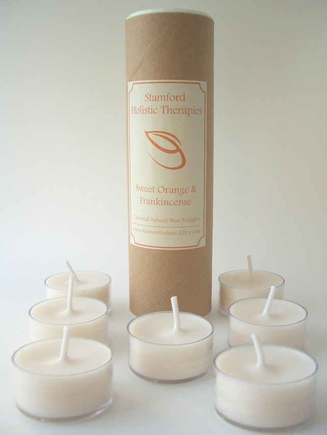 Joy: Sweet Orange & Frankincense Aromatherapy Tealight Candles