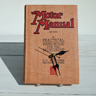 Clock upcycled from a vintage book. The Motor Manual 1948