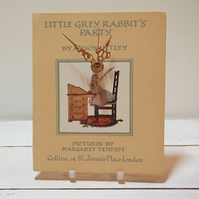 Little Grey Rabbit upcycled book clock