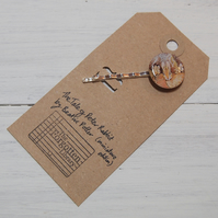 The Tale of Peter Rabbit vintage book page hair pin.