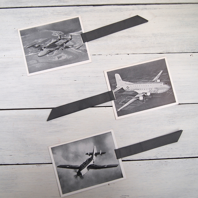 Aircraft recognition photo bookmark