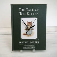 The Tale of Tom Kitten by Beatrix Potter book clock.