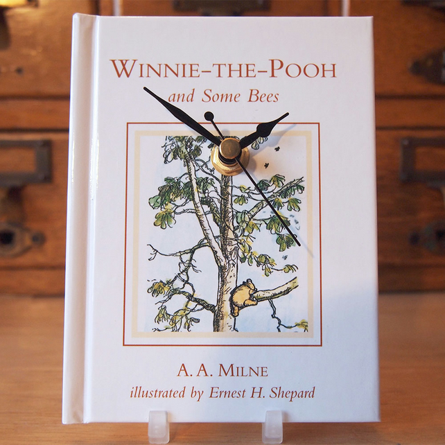 Winnie The Pooh and Some Bees book clock with Ernest Shepard illustrated cover