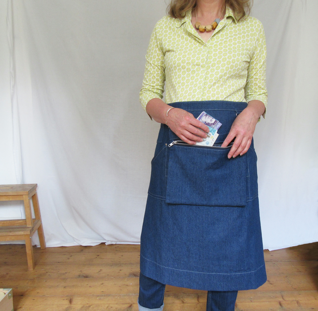 Traders Denim Apron with Cash Bag, for Artists & Makers Craft Fairs Sample No12