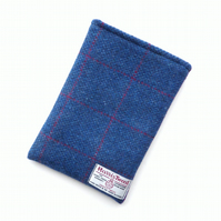 iPad mini padded sleeve in blue and red check HARRIS TWEED