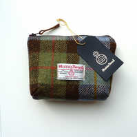 HARRIS TWEED makeup bag, cosmetics case, padded and waterproof lining