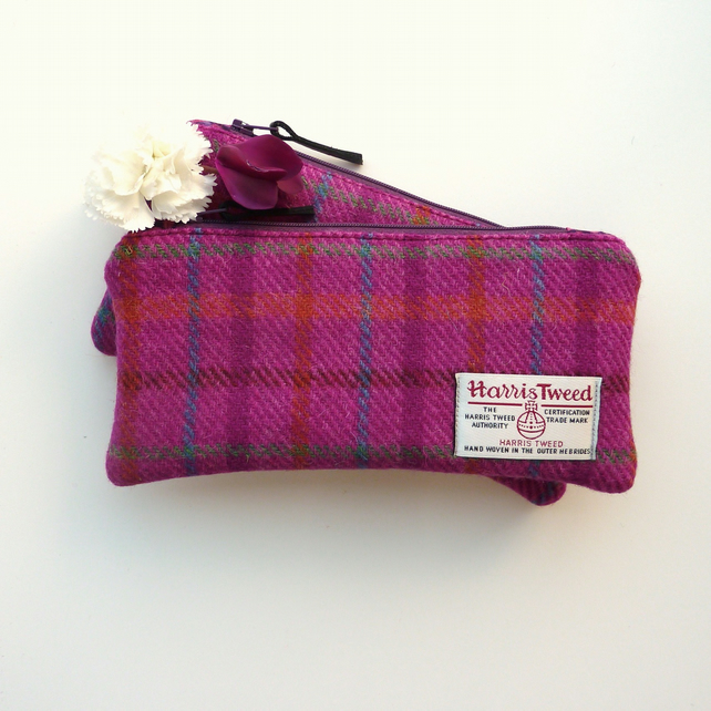 Pink HARRIS TWEED pencil case