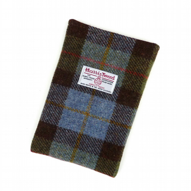 Harris Tweed iPad mini padded sleeve in MacLeod tartan