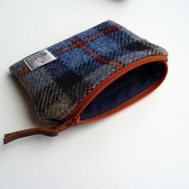 HARRIS TWEED coin purse in MacKenzie tartan