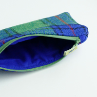 HARRIS TWEED pencil case, Shaw tartan, lightly padded