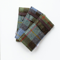 HARRIS TWEED glasses eyeglass case, padded, MacLeod tartan