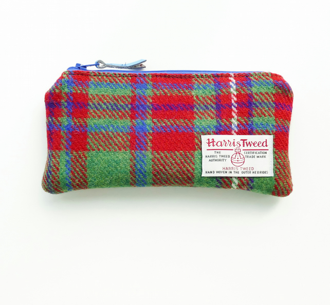 MacKinnon tartan HARRIS TWEED pencil case
