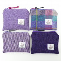 Purple HARRIS TWEED purse