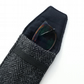 HARRIS TWEED glasses case, gift for men, black and grey herringbone