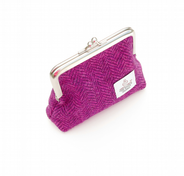 Pink HARRIS TWEED coin purse