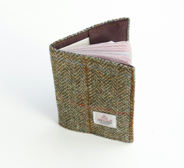 RFID Passport cover in HARRIS TWEED, blocking fabric