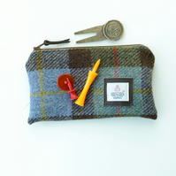 Golf Tee pouch, MacLeod HARRIS TWEED - great gift for golfers, made in Scotland