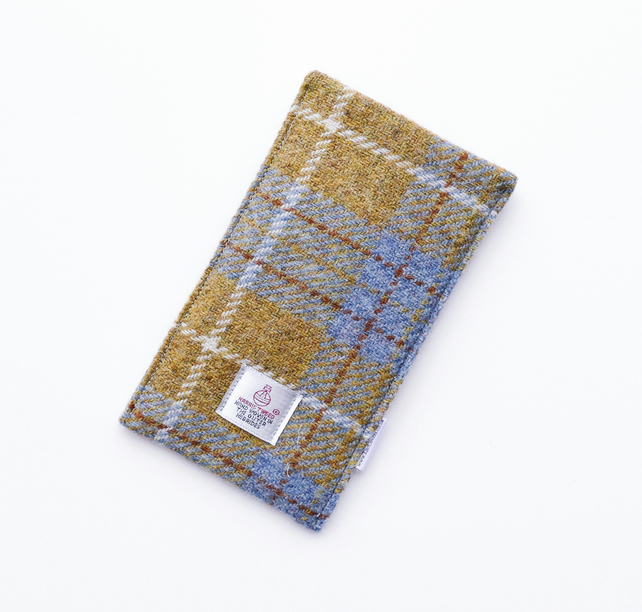Smartphone cover in Mustard HARRIS TWEED