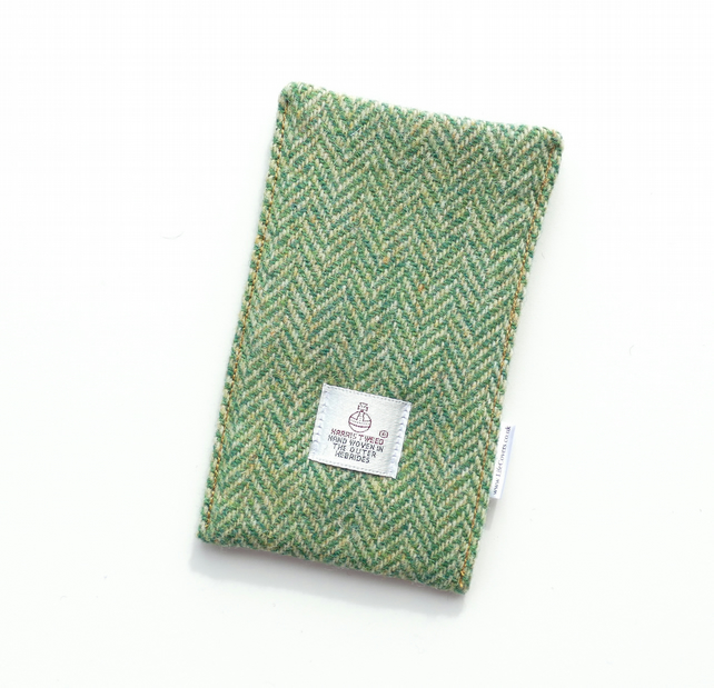 Green HARRIS TWEED Phone cover