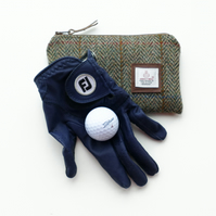 Harris Tweed Golf Tees pouch - great gift for golfers - Scottish gift