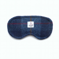 Navy HARRIS TWEED sleep mask, eye mask or travel mask, gift for men
